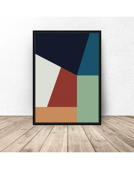 """Plakat abstrakcyjny """"Prostokątna geometria"""""""