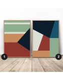 Set of geometric posters Rectangles