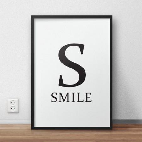 """Plakat z napisem """"S - SMILE"""""""