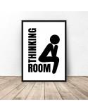 Plakat do łazienki Thinking room