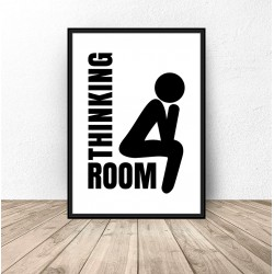 "Plakat do łazienki ""Thinking room"""