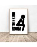 Bathroom poster Thinking room 2