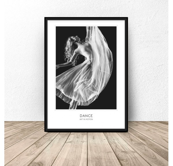 Poster with dancer Dance Art of Motion