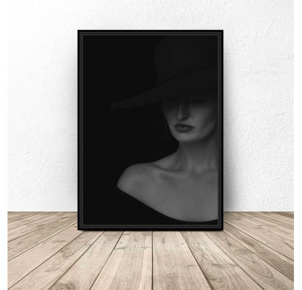 Elegancki plakat Dama w kapeluszu