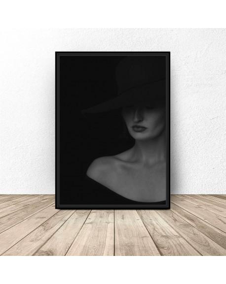 "Elegancki plakat ""Dama w kapeluszu"""