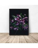 Plakat glamour Fioletowe kwiaty
