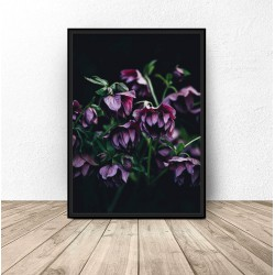 "Plakat glamour ""Fioletowe kwiaty"""