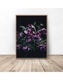 Plakat glamour Fioletowe kwiaty 2