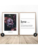 Set of two posters Love Hydrangea