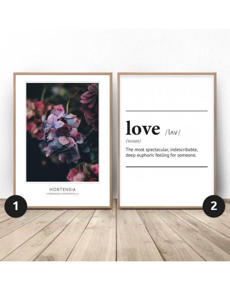 """Zestaw dwóch plakatów """"Miłosna hortensja"""""""