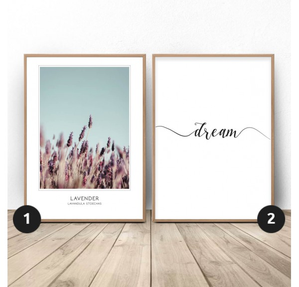 Set of two posters Lavender dream