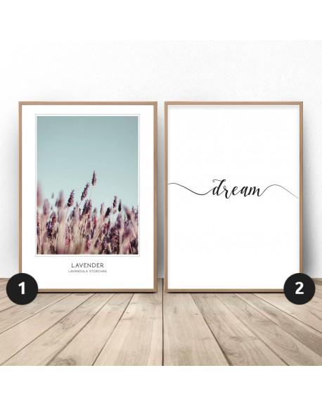 """Zestaw dwóch plakatów """"Lawendowe marzenie"""""""