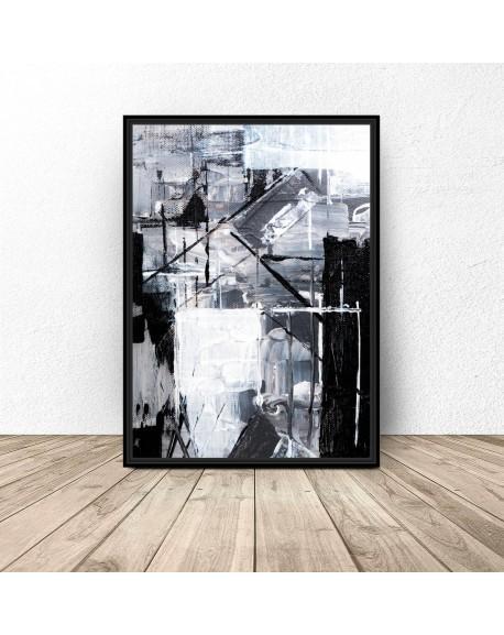 """Plakat abstrakcyjny """"Maźnięte farbą"""""""
