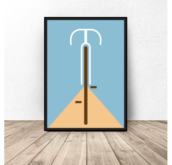 Pastel poster Bike