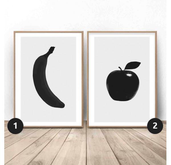 Zestaw dwóch plakatów Owocowy duet