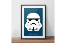 Kolorowy plakat na ścianę dla dzieci z postacią Szturmowca z filmu Star Wars