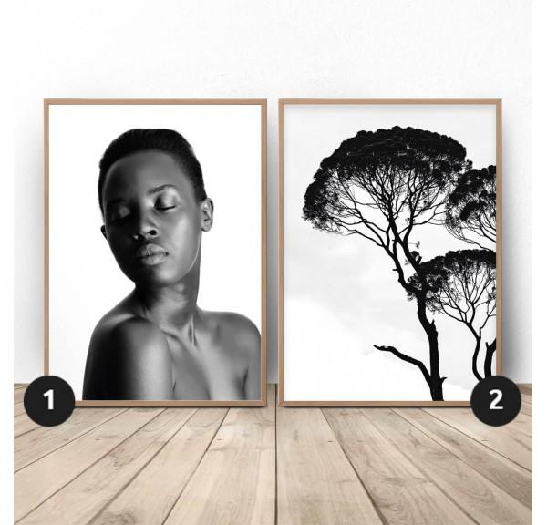 Zestaw dwóch plakatów Egzotyka