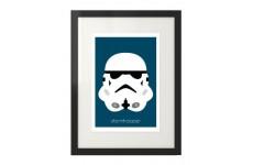 Plakat z postacią Szturmowca dla dzieci i fanów filmu Gwiezdne Wojny