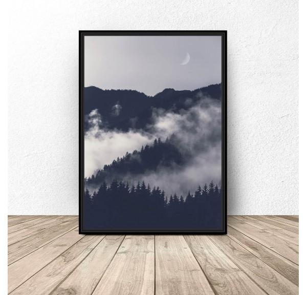 Plakat na ścianę Noc w górach