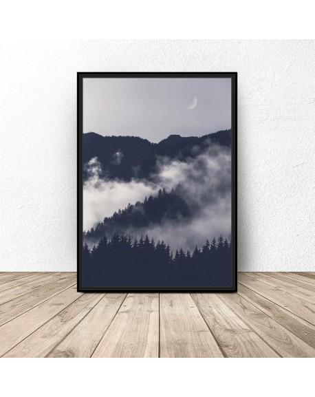 """Plakat na ścianę """"Noc w górach"""""""