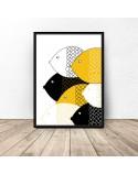 Scandinavian poster Yellow fish 2