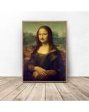 Plakat Mona Lisa z wąsami