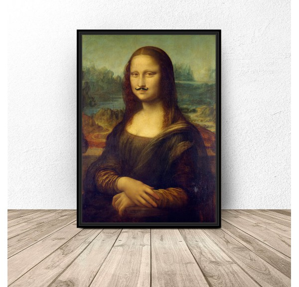 Poster Mona Lisa with mustache