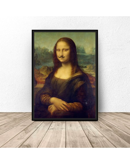 """Plakat """"Mona Lisa z wąsami"""""""
