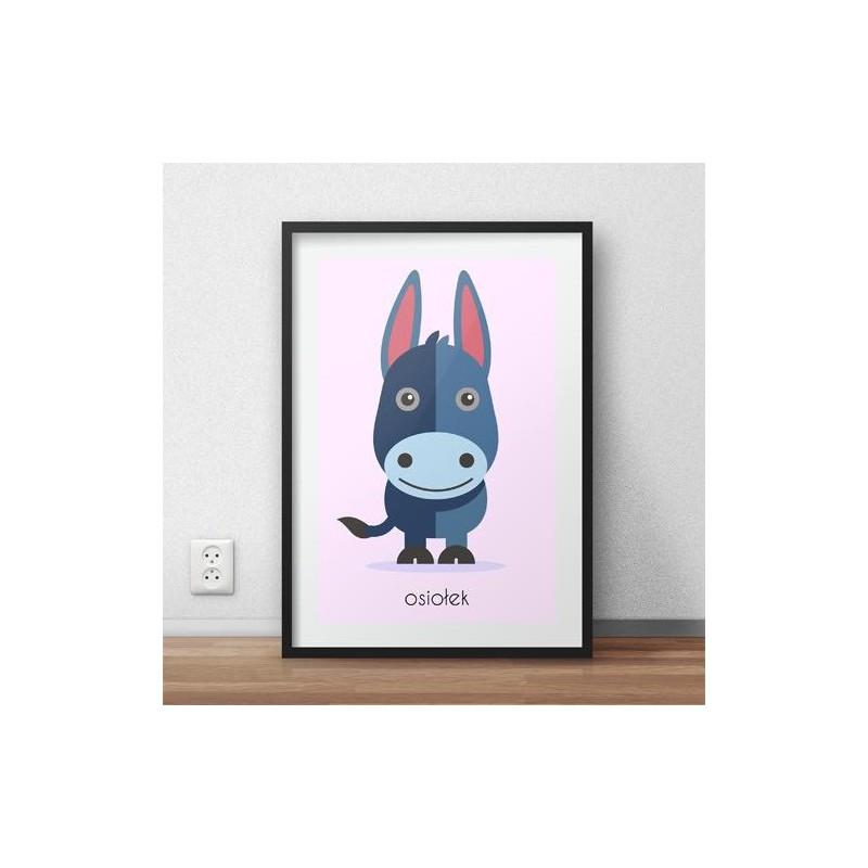 Poster for children Donkey