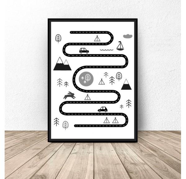 Plakat dla dzieci Podróżnik