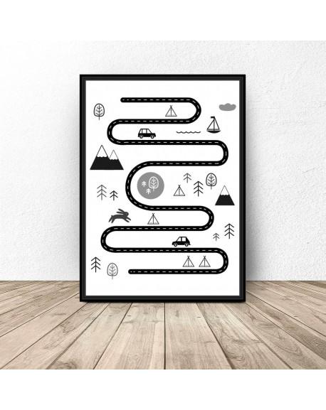 """Plakat dla dzieci """"Podróżnik"""""""