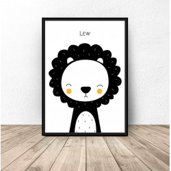 """Plakat dla dzieci """"Lew"""""""