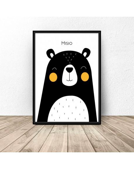 """Plakat dla dzieci """"Misio"""""""