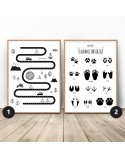 Set of two posters Little Explorer