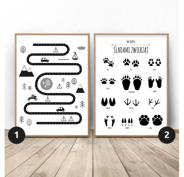 Zestaw dwóch plakatów Mały odkrywca