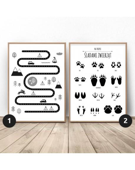"""Zestaw dwóch plakatów """"Mały odkrywca"""""""