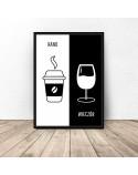 Plakat dekoracyjny Kawa i wino