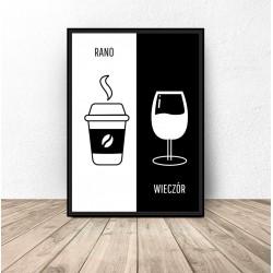 "Plakat dekoracyjny ""Kawa i..."