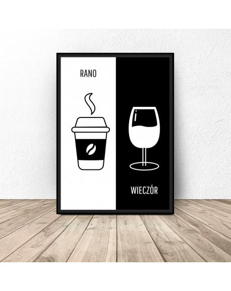 "Plakat dekoracyjny ""Kawa i wino"""
