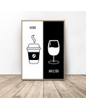 Decorative poster Coffee and wine 2