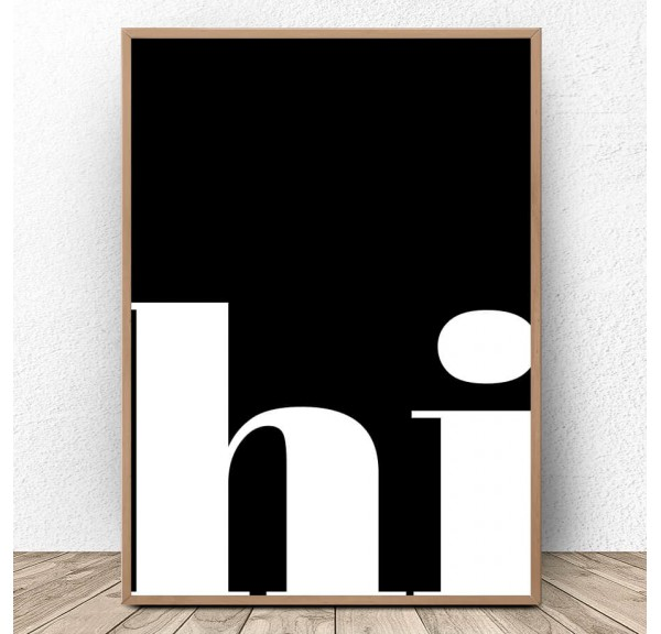 Plakat typograficzny Hi