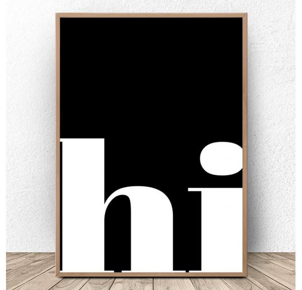 Typographic poster Hi