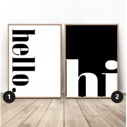 """Zestaw dwóch plakatów """"Hello Hi"""""""