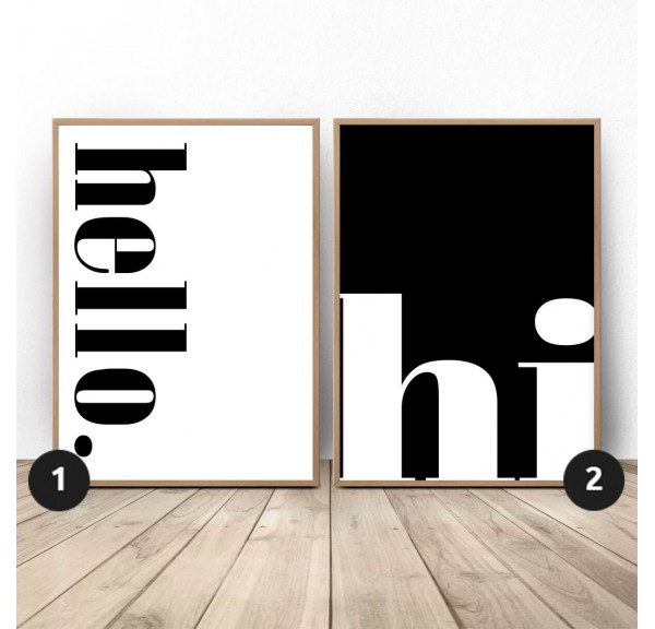 Set of two Hello Hi posters