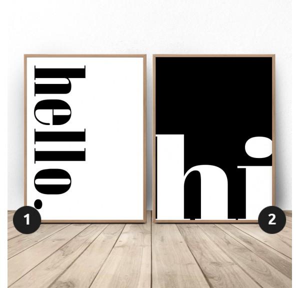 Zestaw dwóch plakatów Hello Hi