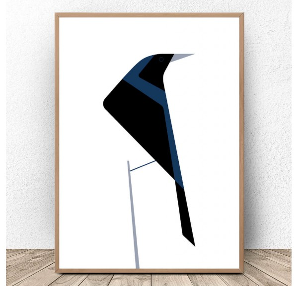 Scandinavian poster Raven
