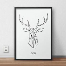 "Plakat z jeleniem ""Deer"""