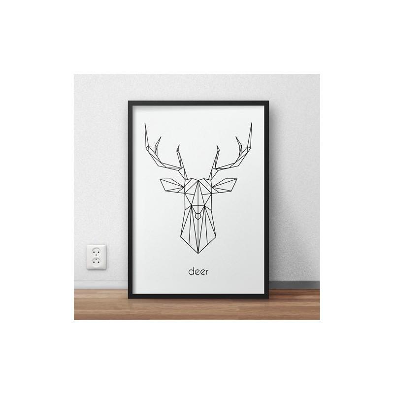 Poster with deer Deer