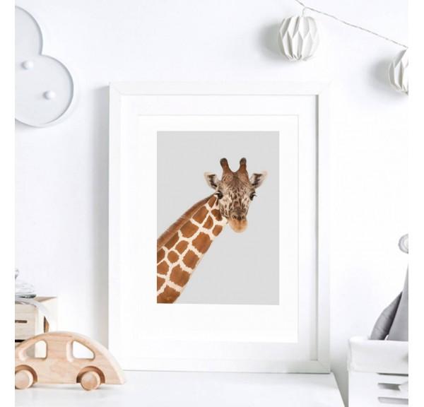 Poster for the child's room - Giraffe