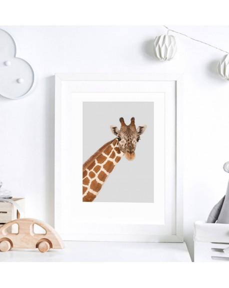 Plakat do pokoju dziecka - Żyrafa